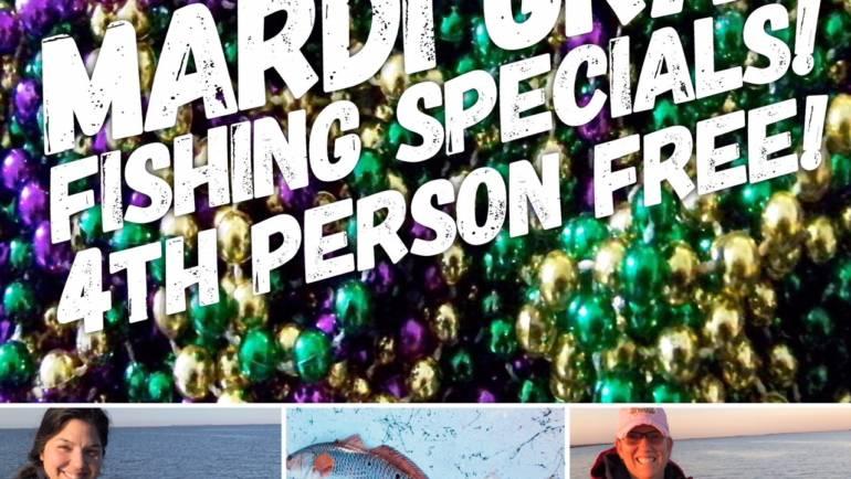 Mardi Gras Fishing Specials